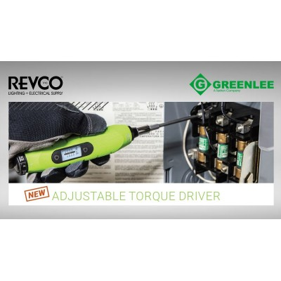 Greenlee Adjustable Torque Driver & Bit Set