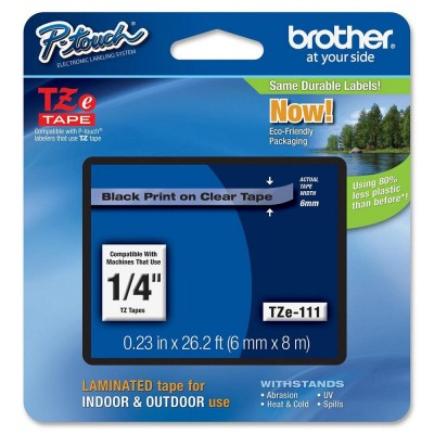 Brother TZE111 Clear Tape